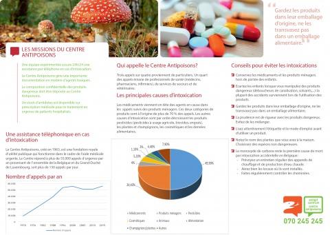 Nouvelle brochure Centre Antipoisons