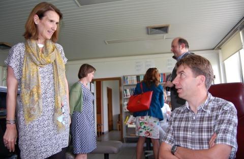 Sophie Wilmès, Ministre du Budget chargée de la Loterie Nationale a visité le Centre Antipoisons