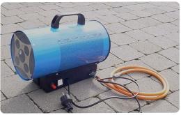 Warmtekanon op butaangas